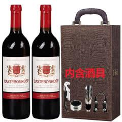 歌思美露维克多半甜型红葡萄酒红酒鳄鱼礼盒装750ml*2