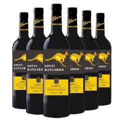 澳大利亚原瓶原装进口红酒路易袋鼠黄尾西拉干红葡萄酒红酒整箱750ml*6