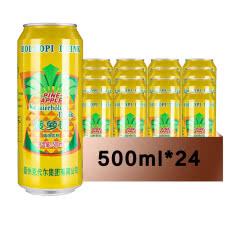 德州柯代尔菠萝啤 果味型碳酸饮料500mlX24听 菠萝啤果味型 无酒精 果啤整箱
