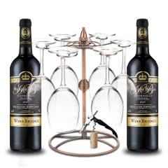 【赠杯架8件套】西班牙原瓶进口LA GABADE DO级红酒珍藏干红750ml*2