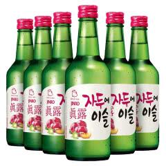 13度韩国进口真露李子味360ml(6瓶)