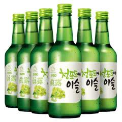 13度韩国原瓶进口真露葡萄味360ml(6瓶)