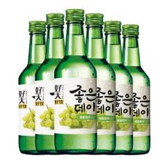 12.5度韩国原瓶进口好天好饮烧酒青葡萄味360ml(6瓶)