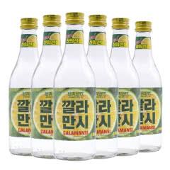 12.5度韩国原瓶进口好天好饮烧酒卡曼橘360ml(6瓶)
