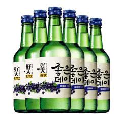12.5度韩国原瓶进口好天好饮烧酒蓝莓味360ml(6瓶)