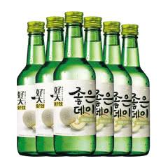 13.5度韩国原瓶进口好天好饮烧酒哈密瓜味360ml(6瓶)