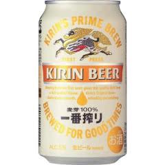 日本KIRIN麒麟一番榨啤酒330ml*6听整箱装(中国产)