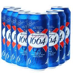 法国原装进口1664黄啤酒精酿小麦果味克伦堡凯旋500ml *24罐整箱