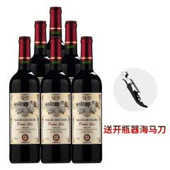 法国原瓶原装进口 波尔多法定产区 丹姆斯半干红葡萄酒750ml*6