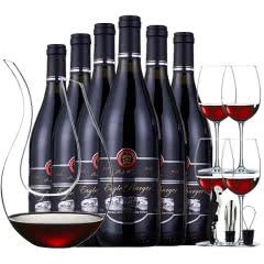 法国红酒进口红酒14.5度老藤珍酿酒堡干红葡萄酒送U形醒酒器酒具 整箱750ml*6瓶