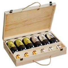 法国红酒原酒进口干红葡萄酒浮雕重型瓶木箱礼盒装整箱750ml*6瓶