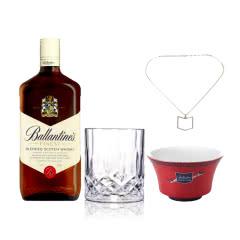 40°英国百龄坛特醇苏格兰威士忌1000ml +百龄坛李宁茶碗+项链+威士忌杯