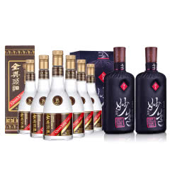 50°全兴头曲酒500ml*6+52°酒鬼酒(妙造)450ml*2