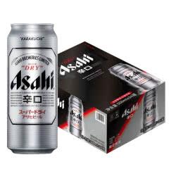 Asahi朝日啤酒超爽生啤酒500mlX24罐 黄啤酒整箱