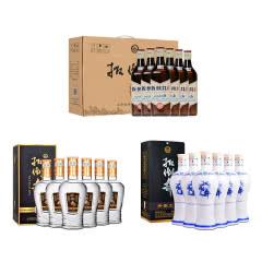 38度青花瓷700ml*6瓶+42度纯酿500ml*6瓶+42度酒头500ml*6瓶
